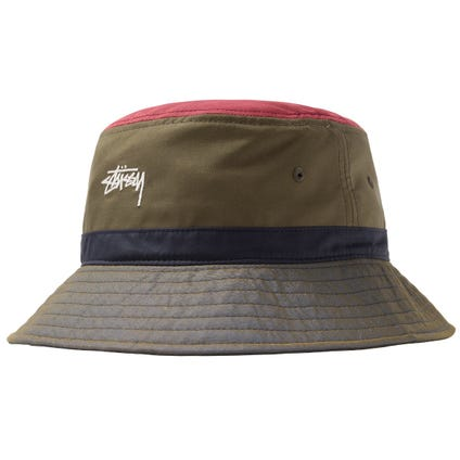 COLOR BLOCK BUCKET HAT