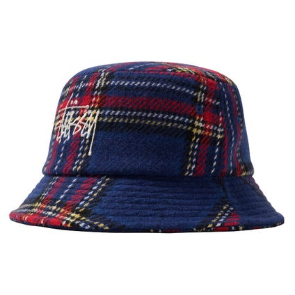 BIG LOGO PLAID BUCKET HAT HO20