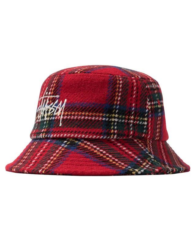 BIG LOGO PLAID BUCKET HAT HO20
