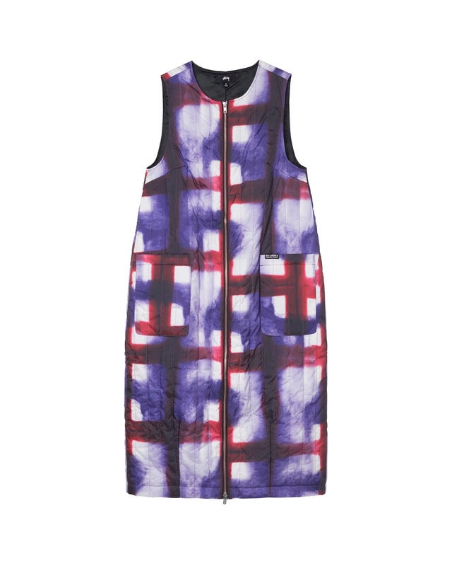 W' BLURRY QUILTED DRESS