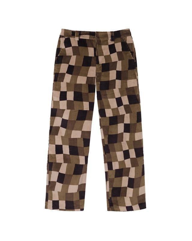 W' WOBBLY CHECK TROUSER