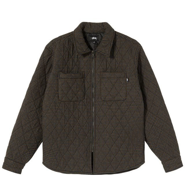 MINI CHECK QUILTED ZIP SHIRT