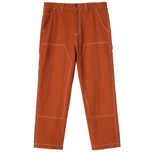 SOLID LINEN WORK PANT