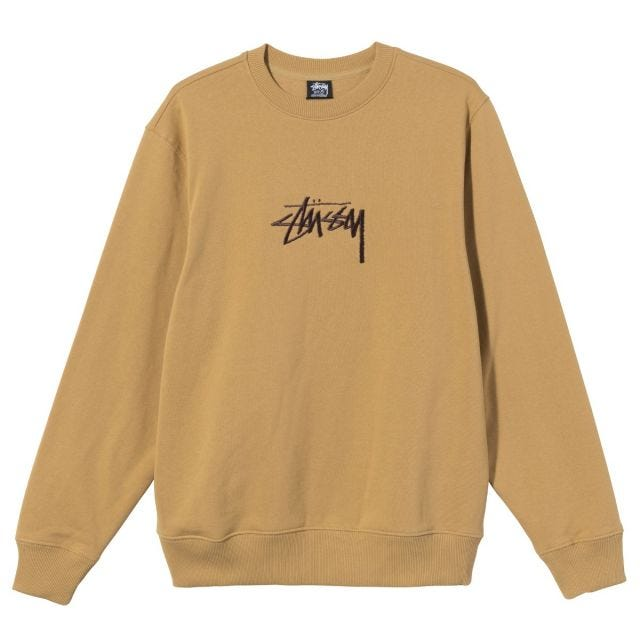 STOCK EMBROIDERED CREW