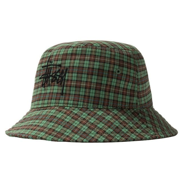 BASIC PLAID BUCKET HAT