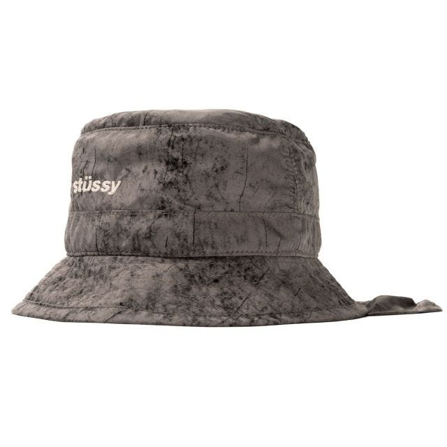 DYED NYLON BUNGEE BUCKET HAT