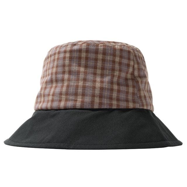 MIX PLAID BUCKET HAT