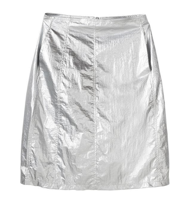 W' SHINY PANEL SKIRT
