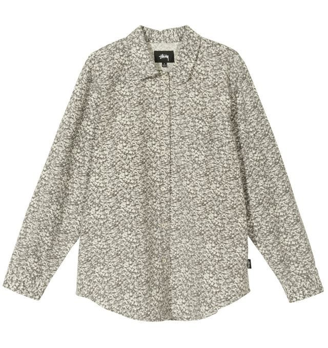 W' PRINTED SHERPA BUTTON DOWN