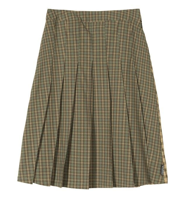 W' MIX PLAID PLEATED SKIRT