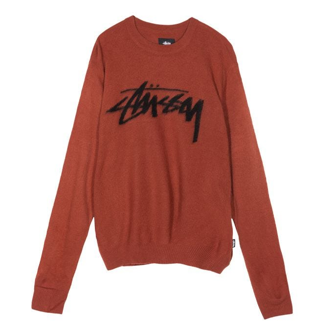 W' BRUSHED OUT LOGO SWEATER