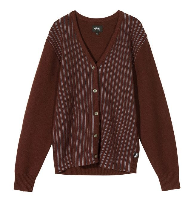 W' STRIPE CARDIGAN