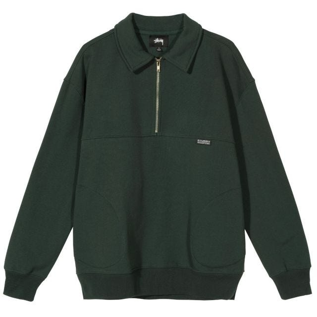 W' BACK PANELS HALF ZIP