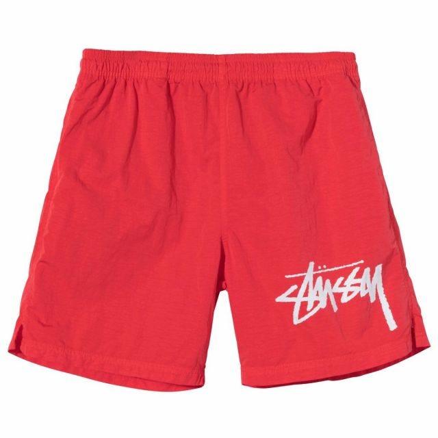 Stussy x Nike Water Shorts - Habanero Red