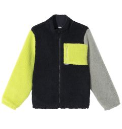 COLOR BLOCK SHERPA JACKET