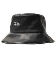 W' PU CONTRAST STITCH BUCKET HAT
