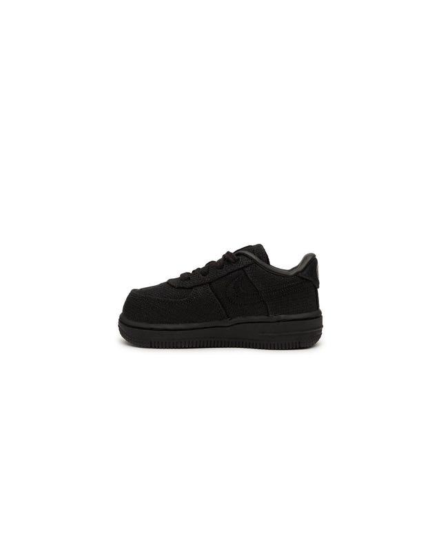 Stussy x Nike Force 1 (Toddler) - Black-Black